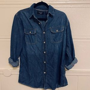 Long sleeve jean button up